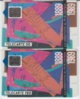 FRANCE - 50 Unités Et 120 Unités - LE TELEPHONE AU FIL DU TEMPS  - Télécartes Utilisées - Frankrijk