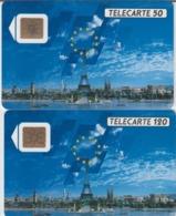 FRANCE - 50 Unités Et 120 Unités - DIMENSION EUROPEENNE  - Télécartes Utilisées - Frankrijk