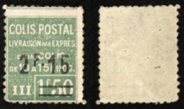 COLIS POSTAUX N° 93 Neuf N** B Cote 125€ - Neufs