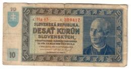 Slovakia 10 Korun 1939 - Slovacchia