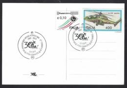 """Italia, Italy 2019;""""30° Anniversario Del Velivolo AMX"""", Military Aircraft, Su Cartolina Ufficiale Della Manifestazione. - Militaria"""