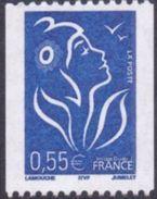 France Marianne De Lamouche N° 3807 ** Roulette Du 0.55 Euro - Bleu - 2004-08 Marianne De Lamouche