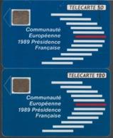 FRANCE - 50 Unités Et 120 Unités - COMMUNAUTE EUROPEENNE  - Télécartes Utilisées - Frankrijk