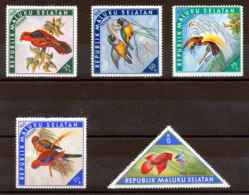 Maluku Selatan Lot De 5 Timbres* Oiseaux Et Poissons - Otros - Asia