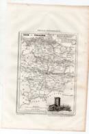 Carte Départementale De L'ILE ET VILAINE  (La France Pittoresque) Gravure Originale  XIXe ( CAT 1537) - Carte Geographique