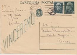 A/1 - CARTOLINA POSTALE - VINCEREMO - 1900-44 Vittorio Emanuele III