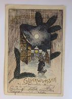 """""""Neujahr, Nachtwächter, Horn"""" 1901 ♥  - Anno Nuovo"""