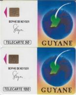 FRANCE - 50 Unités Et 120 Unités - GUYANE ARIANESPACE  - Télécartes Utilisées - Frankrijk