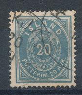 Islande   N°14a (A) Outremer Dentelé 14x13,5 - Oblitérés