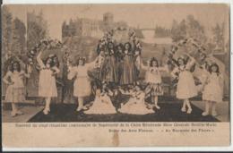 Leuven - Louvain-Heverlé - Souvenor Du 25e Anniversaire De La Mère Générale Bertille Marie Scene Des Arcs Floraux 1908 - Leuven