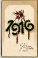 52410719 - 1916 Neujahr Schwarz-Weiss-Rot - New Year