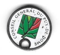 Jeton De Caddie  CONSEIL  GÉNÉRAL  DU  PUY  DE  DÔME  ( 63 ) - Jetons De Caddies