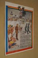 RARE,originale,ancienne Affiche D'époque 40/45,Bastogne,dessin De Clément ,Louis Habay,+- 32 Cm./24 Cm.militaria - Affiches