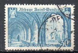FRANCE. N°888 Oblitéré De 1951. Abbaye De St-Wandrille. - Abbazie E Monasteri