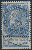 NB - [51519]TB//O/Used-N° 60, TB Obl Centrale Télégraphe 'Grammont' - 1893-1900 Thin Beard