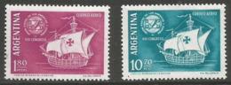 Argentina - 1960 Spanish-American Congress MNH *   Sc C78-9 - Argentina