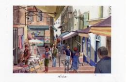 CPM - J - ALPES MARITIMES - ILLUSTRATEUR BERNARD CHAMBON - VIEUX NICE - Leven In De Oude Stad