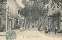 CPA 83 Var Vidauban La Rue Nationale Bar Hotel Restaurant - Vidauban