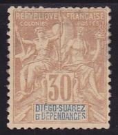 Diego-Suarez N° 33 Neuf *- Voir Verso & Descriptif - - Diégo-Suarez (1890-1898)