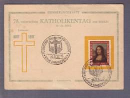 "Carte ""Katholikentag""   Obl. Sonderstempel Gott Lebt Berlin-Charlottenburg 20.08.1952-** - Storia Postale"