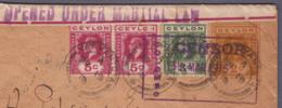 Ceylon - Lettre EP + Compl.  Obl. 19.03.1915-> Java  - Censored/Zensur/censure  De Colombo Du 19.03.1915 - Militaria