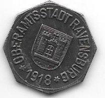 *notgeld  Ravenburg  5 Pfennig 1918   Fe   440.1b - [ 2] 1871-1918 : Empire Allemand