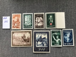 Timbres Saarland (Sarre) 1950-1952, MNH, Cote Mi 84 Euros - French Zone