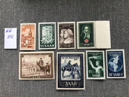 Timbres Saarland (Sarre) 1950-1952, MNH, Cote Mi 84 Euros - Französische Zone