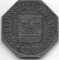 *notgeld  Ravenburg  50 Pfennig 1918   Fe   440.3f - [ 2] 1871-1918 : Empire Allemand
