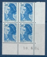 """FR Coins Datés YT 2320 """" Liberté 3F00 Bleu """" Neuf** Du 18.6.84 - 1980-1989"""