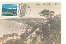 France Nice 2010 Carte Postale Souvenir 150ème Anniversaire Du Rattachement à La France - Nice