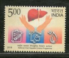 India 2018 National Viral Hepatitis Control Programme Health Vaccine Medicine 1v MNH - Medicine