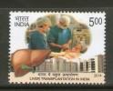 India 2014 Liver Transplantation Of India Nurse Doctor Heath Medicine 1v MNH Inde Indien - Medicine