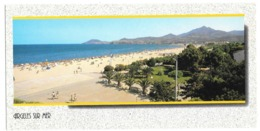 66 - ARGELES SUR MER - Roussillon - éd. APA POUX - Carte Panoramique Grand Format: 10.5 X 21 Cm - Argeles Sur Mer