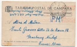 ESPAGNE -Tarjeta Postal De Campana - (Carte De Franchise Militaire) - 1938 - 1931-50 Cartas