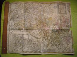 Carte Géographique 1786 Cercle Du Haut Rhin Par Gusefeld à Nuremberg 50X60 Cm Vendue En L'état - Carte Geographique