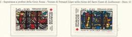 PIA-FRA-1981:Per La Croce Rossa-Vetrate Di Fernand Léger Nella Chiesa Del Sacro Cuore Di Audincourt   - (Yv  2175-76) - Vetri & Vetrate