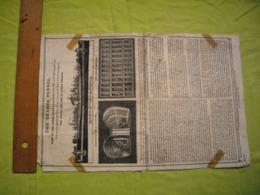 Affichette Papier Chiffon 1837 The Thames Tunnel Tunnel De La Tamise 26X40 Cm Vendue En L'état - Affiches