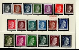 Deutsches Reich 781 - 798 Adolf Hitler MNH Postfrisch ** Neuf - Nuevos