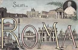 Roma - Mehrbild Pius X: 1913 - Colosseum