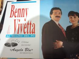 BENNY VIVETTA DEL MULINO DEL PO IL VENTO DELLA VITA E ANGELO BLU Musica  FOLK  N1990  HG1468 - Musica E Musicisti