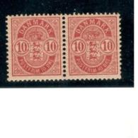 DENMARK1884: Michel 35YABa Mnh** Pair With Complete,original Gum - Nuovi