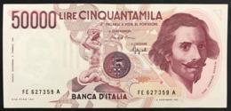 50000 Lire Gian Lorenzo Bernini I° Tipo Serie E 1992 Raro Spl LOTTO 2922 - [ 2] 1946-… : Repubblica