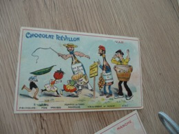 Chromo  Pub Publicitaire Chocolat Révillon Surréalisme Le Var - Revillon