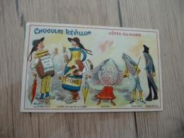 Chromo  Pub Publicitaire Chocolat Révillon Surréalisme Départements Côtes Du Nord - Revillon