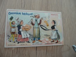 Chromo  Pub Publicitaire Chocolat Révillon Surréalisme Départements Gastronomique La Manche - Revillon