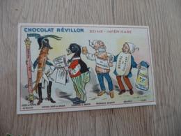 Chromo  Pub Publicitaire Chocolat Révillon Surréalisme Départements Gastronomique Seine Inférieure - Revillon