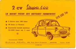 2 CV Vespa 400 Garage Renel Amiens Voitures Françaises - Macchina