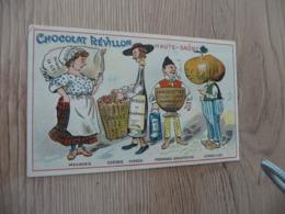 Chromo  Pub Publicitaire Chocolat Révillon Surréalisme Départements Gastronomique Haute Saône - Revillon