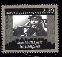 """FRANCE 2433** 2,20f Noir Et Gris Cinquantenaire De La Cinémathèque Française """"Les Vampires"""" Louis Feuillade - Unused Stamps"""